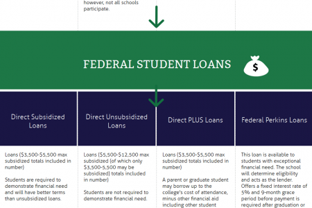 Financial Aid Flowchart: A Guide for Students Paying for College Infographic