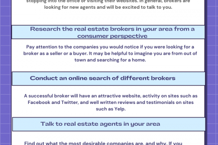 Find Best Realtor Broker to Work For Infographic