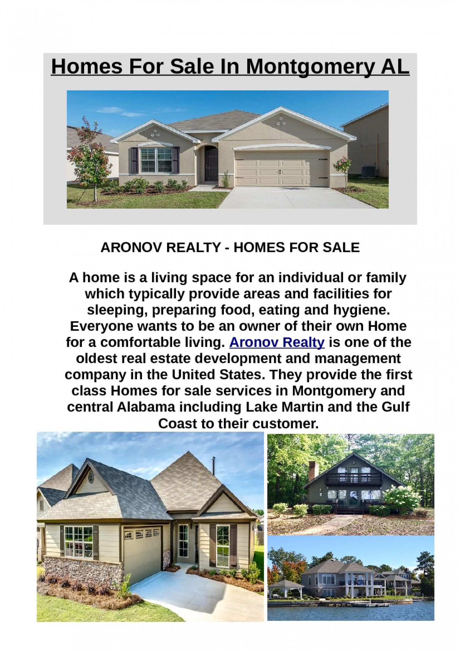 Find Homes For Sale In Montgomery AL Infographic