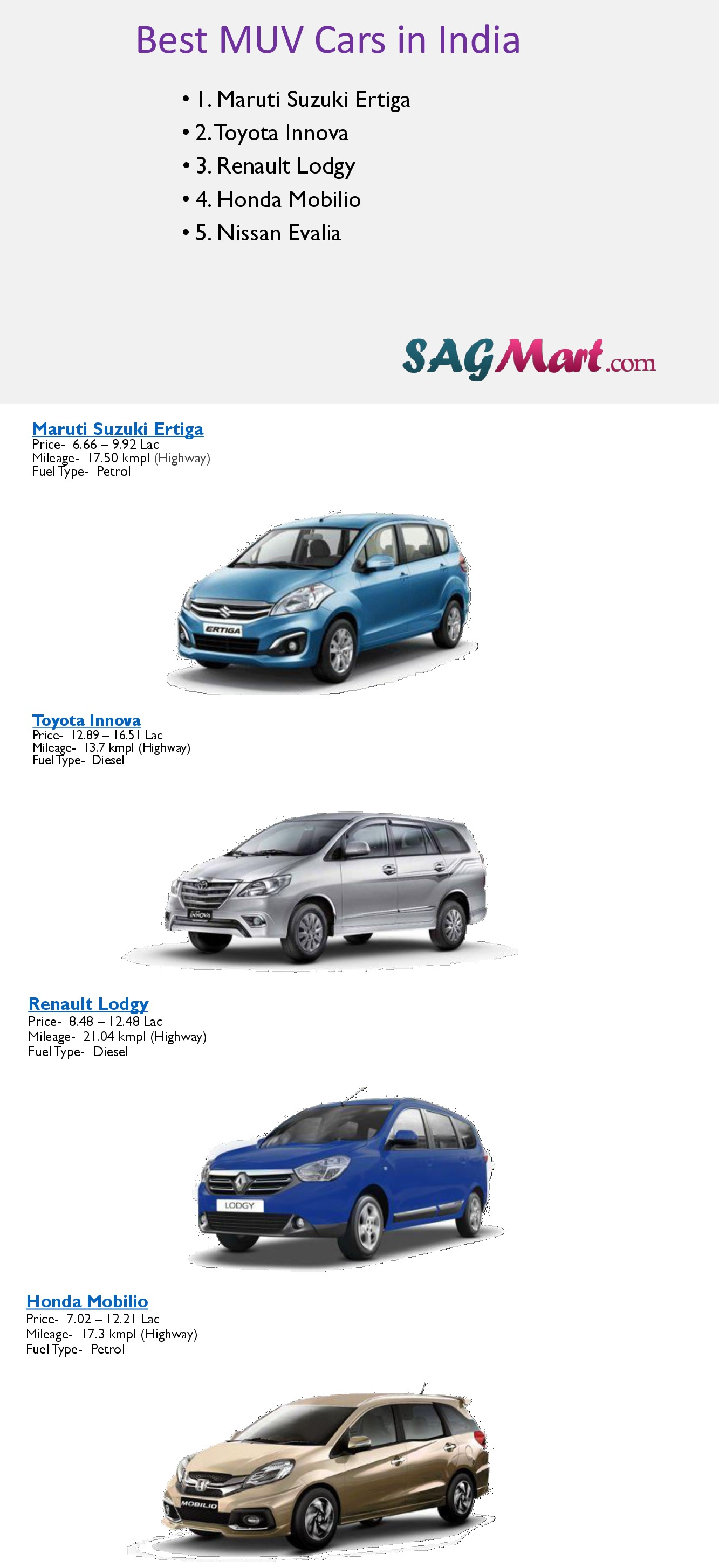 Find Muv Cars With Muv Cars Price In India Visual Ly