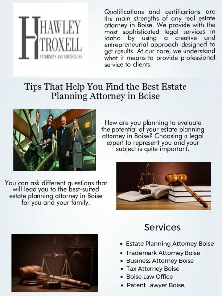 Find the Best Estate Planning Attorney in Boise Infographic