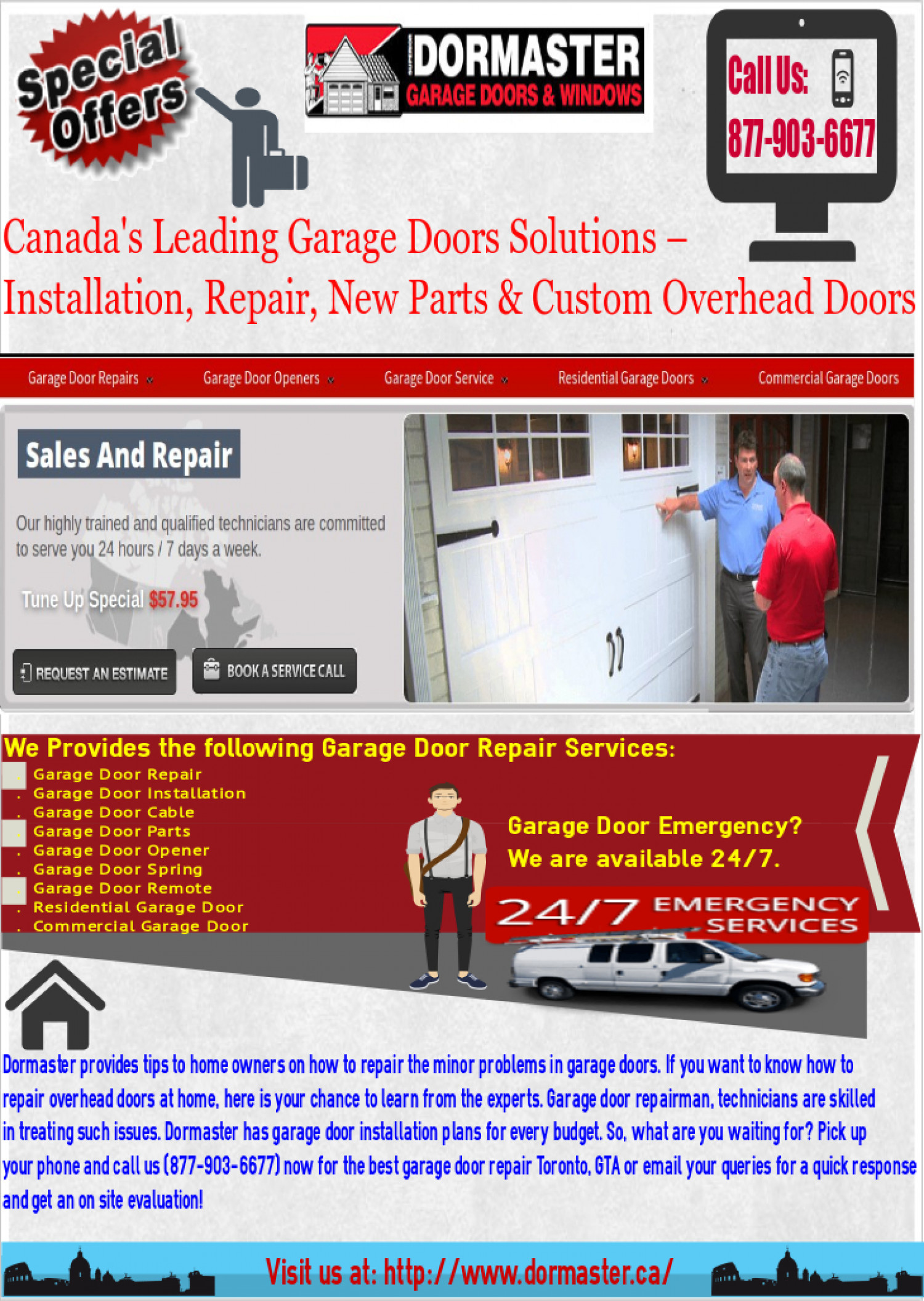 Find The Best Garage Door Installation And Repair Services Infographic