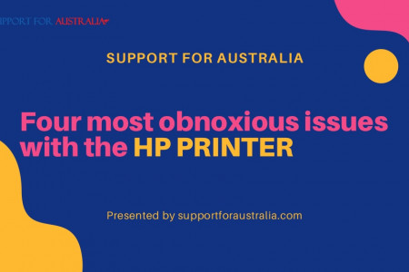 Find the Four Most Obnoxious Issues and Solutions with the HP printer Infographic