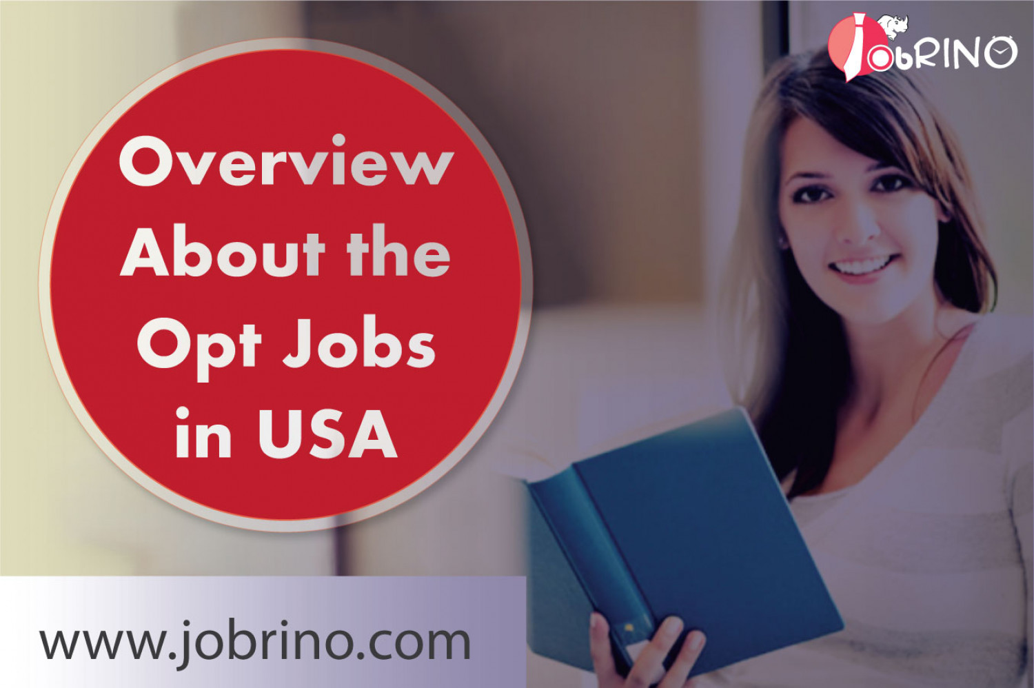Find the overview of the opt jobs in USA - JobRino.  Infographic