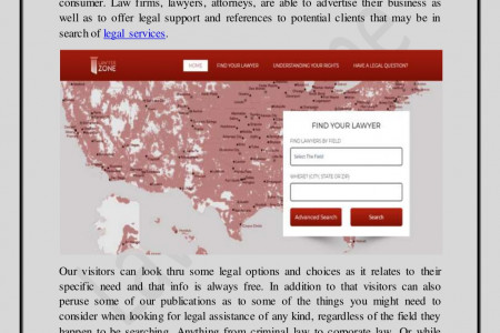 Find the Right Attorney Los Angeles, California | LawyerZone Infographic