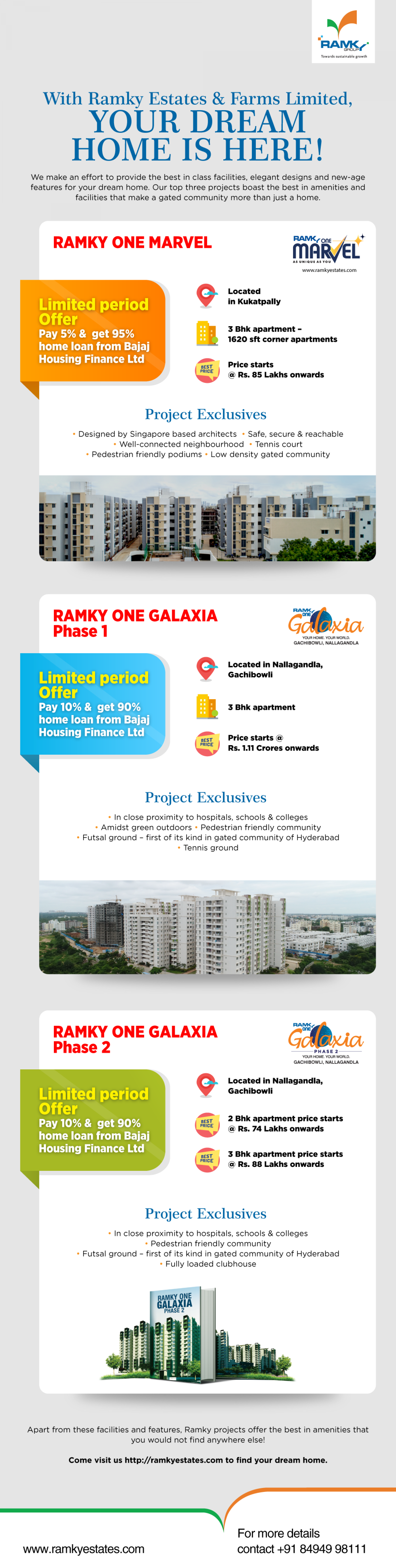 Find Your Dream Home With Ramky Estates & Farms Ltd