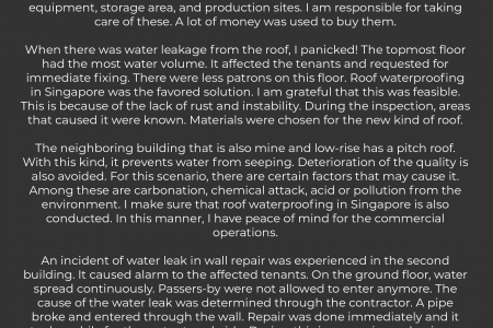 Finding A Waterproofing Contractor in Singapore Infographic