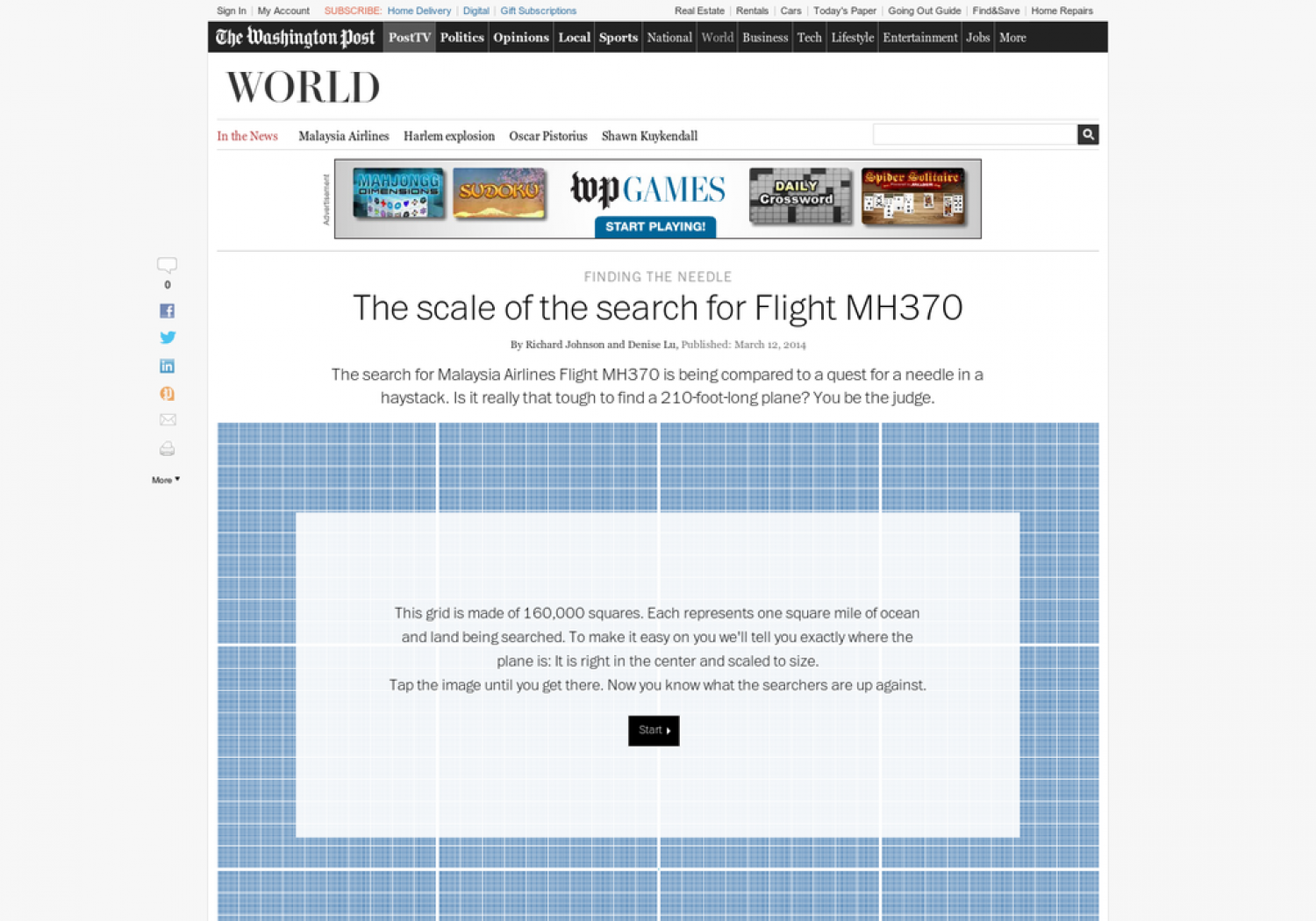 Finding Flight 370 - The Scale Of The Problem Infographic