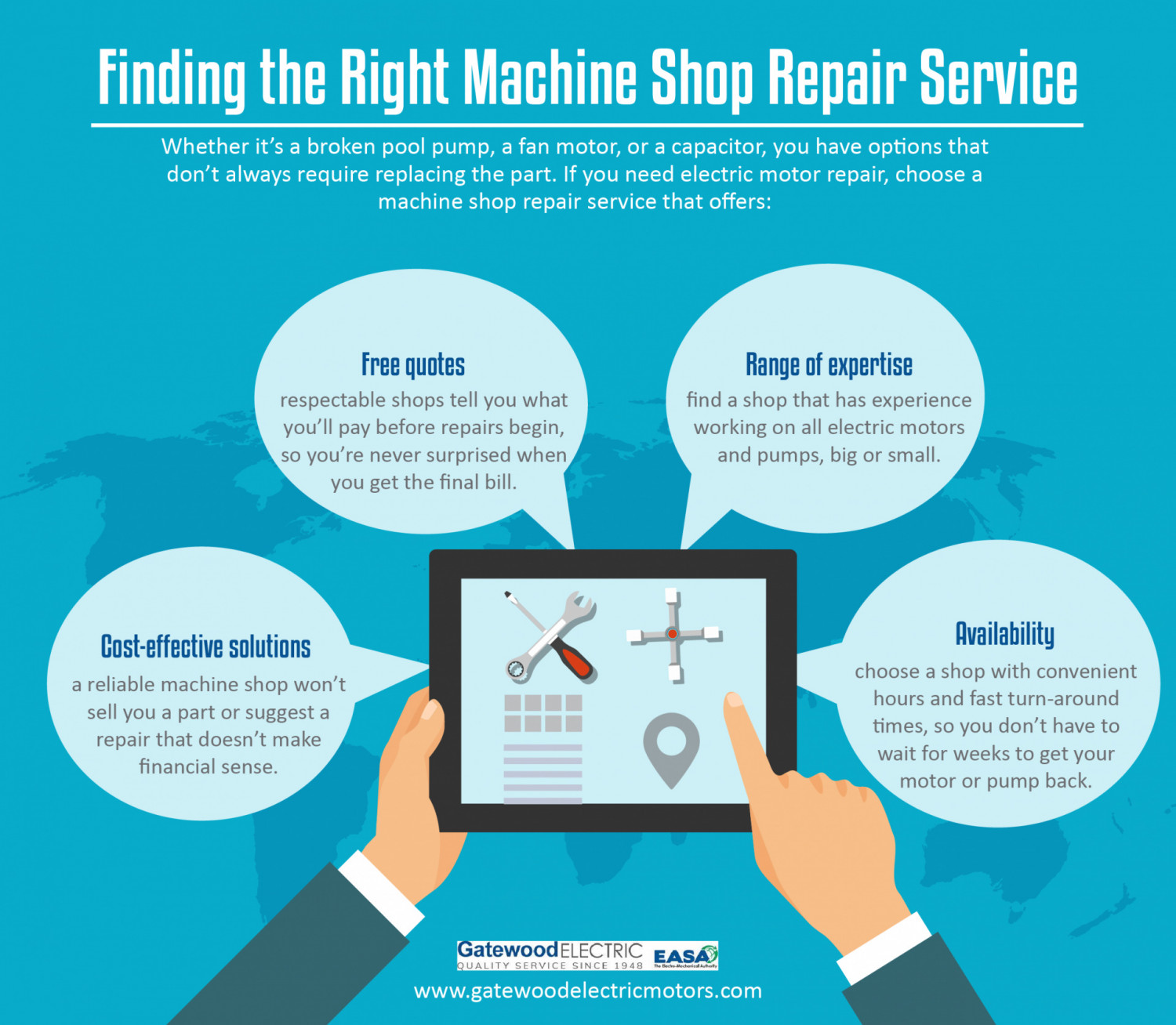 Finding the Right Machine Shop Repair Service Infographic