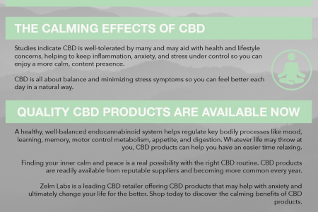 Finding Your Calm With CBD Infographic