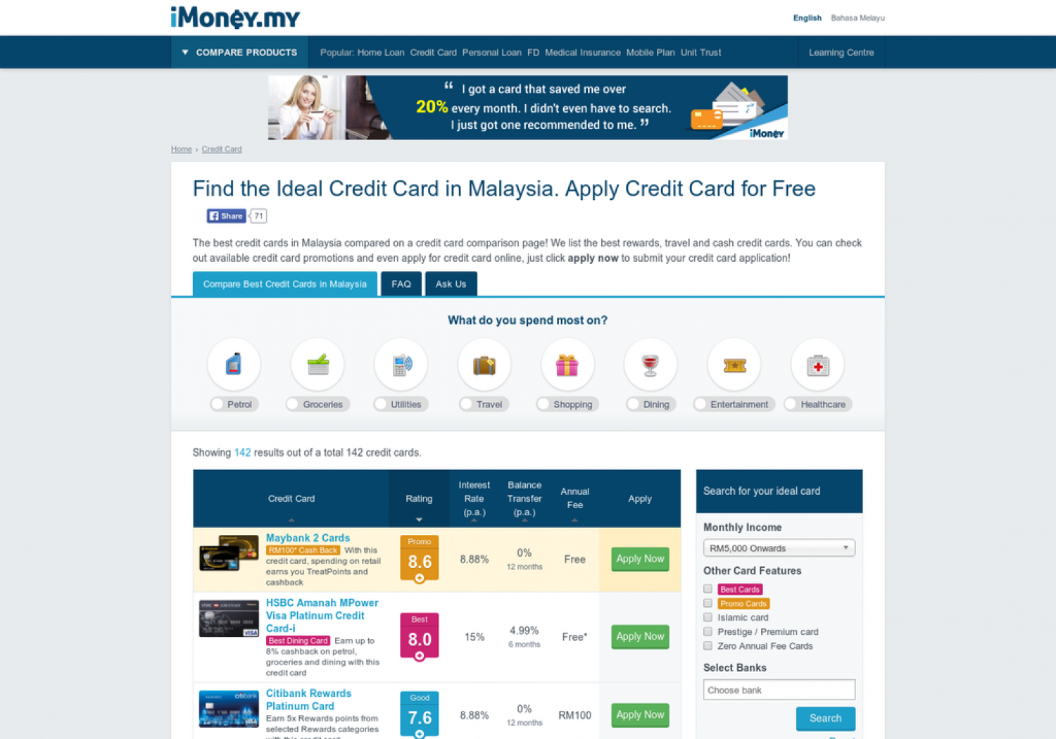 Finding Your Ideal Credit Card In Malaysia Visually
