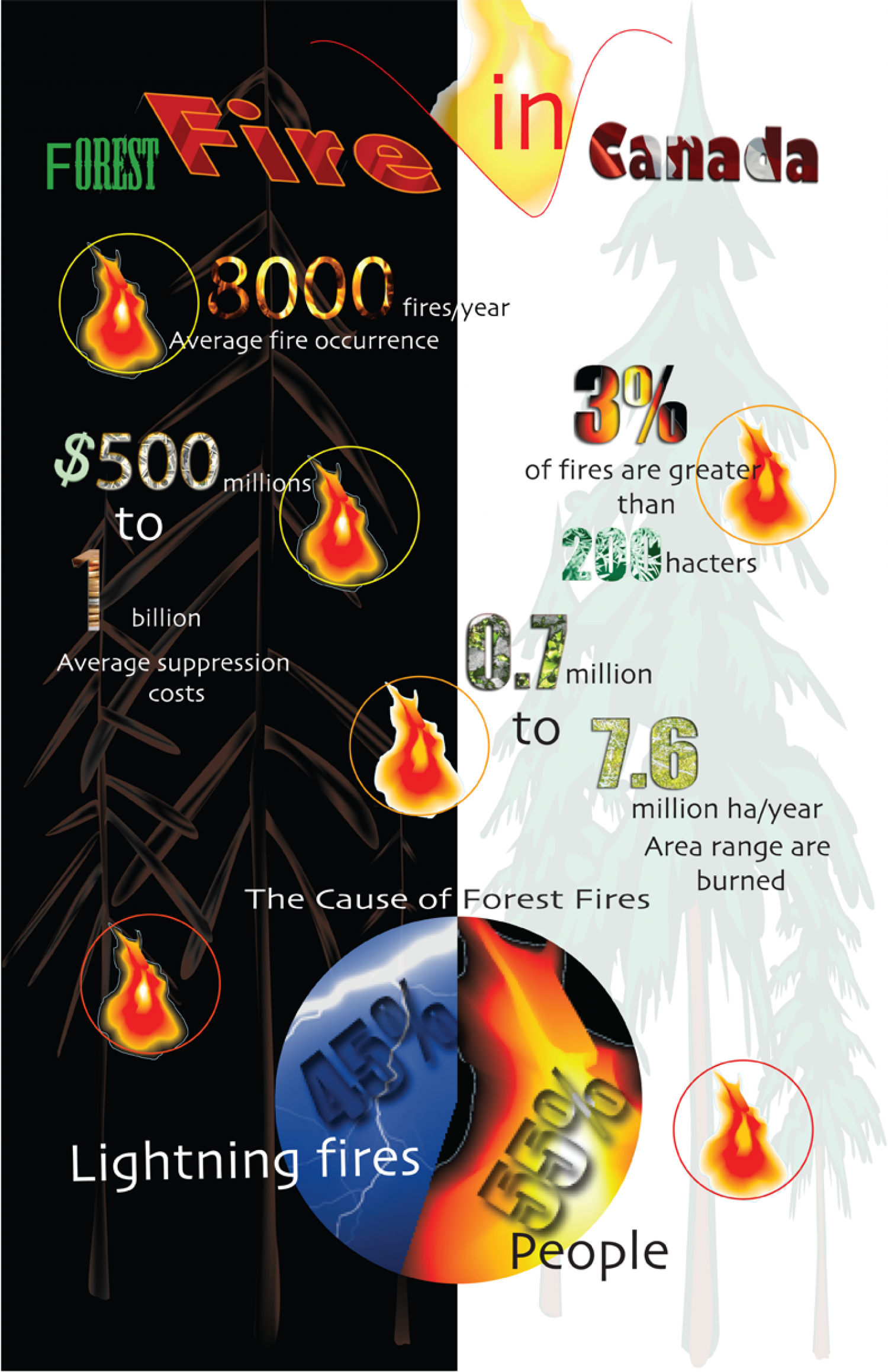 Fire in Canada Infographic