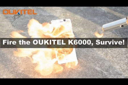 Fire smartphone OUKITEL K6000 Infographic