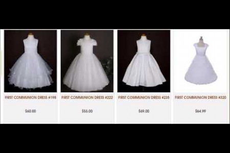 First Communion Dresses in various designs From Barongs R us Infographic