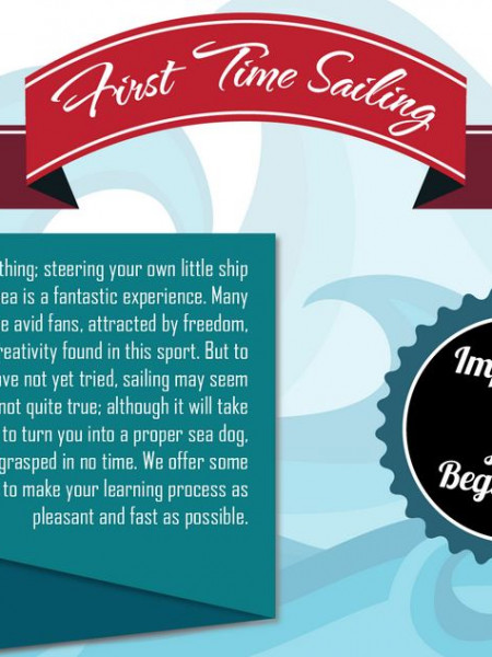 First Time Sailing - Useful Tips Infographic