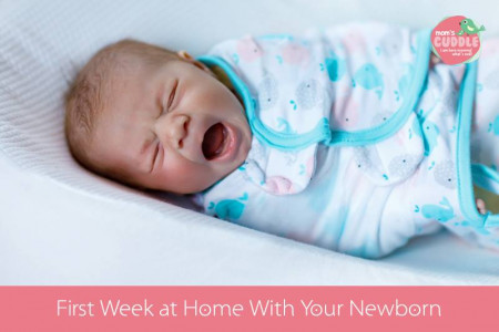 First Week at Home With Your Newborn. Infographic