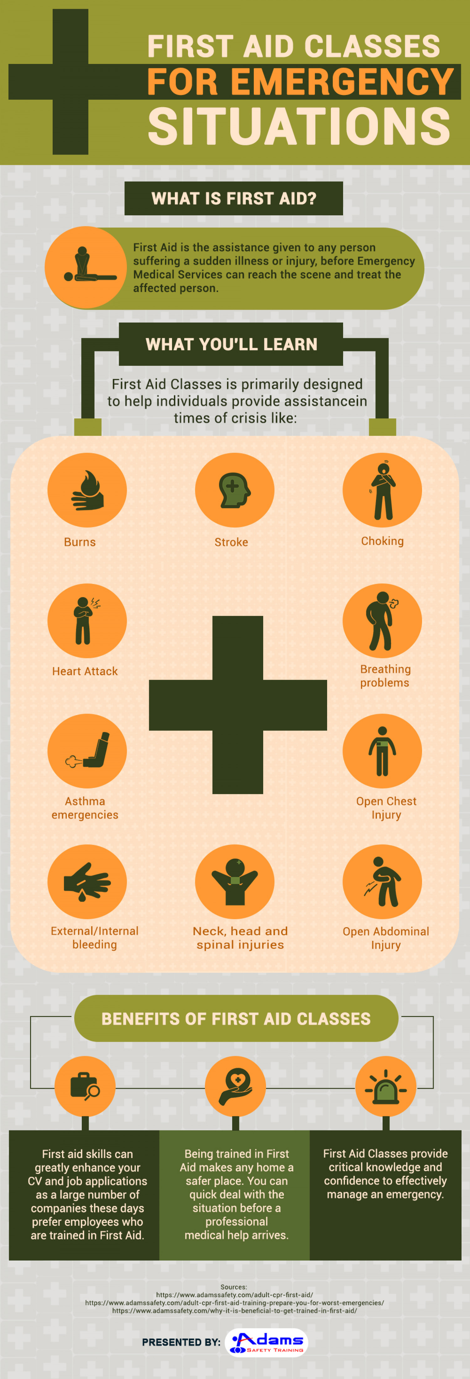 First-Aid: Features & Benefits Infographic