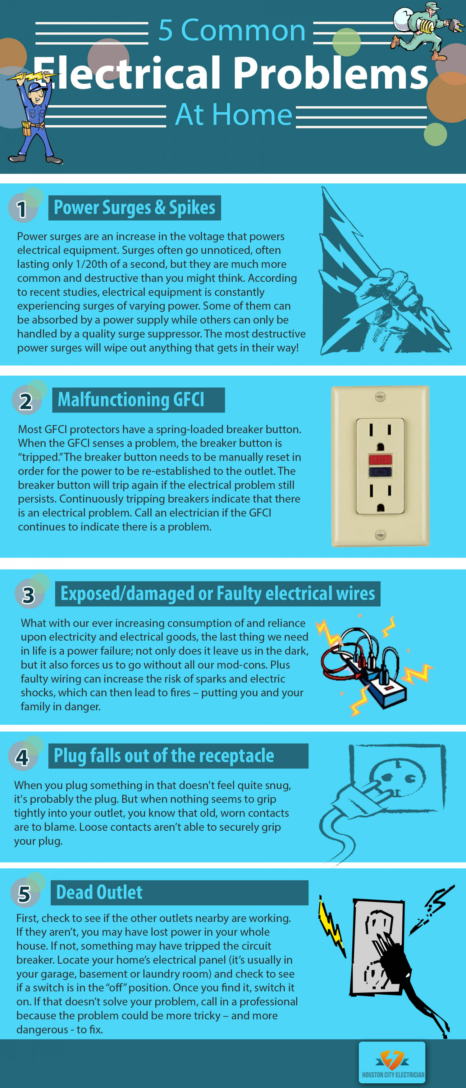 Five Common Electrical Problems at Home | Visual.ly