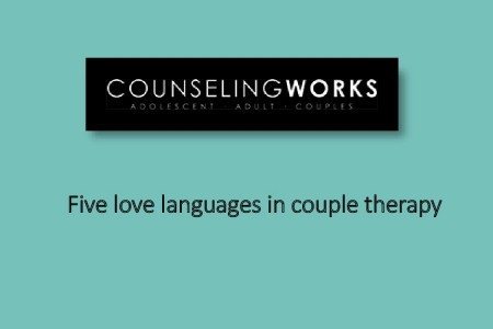 Five love languages in couple therapy Infographic