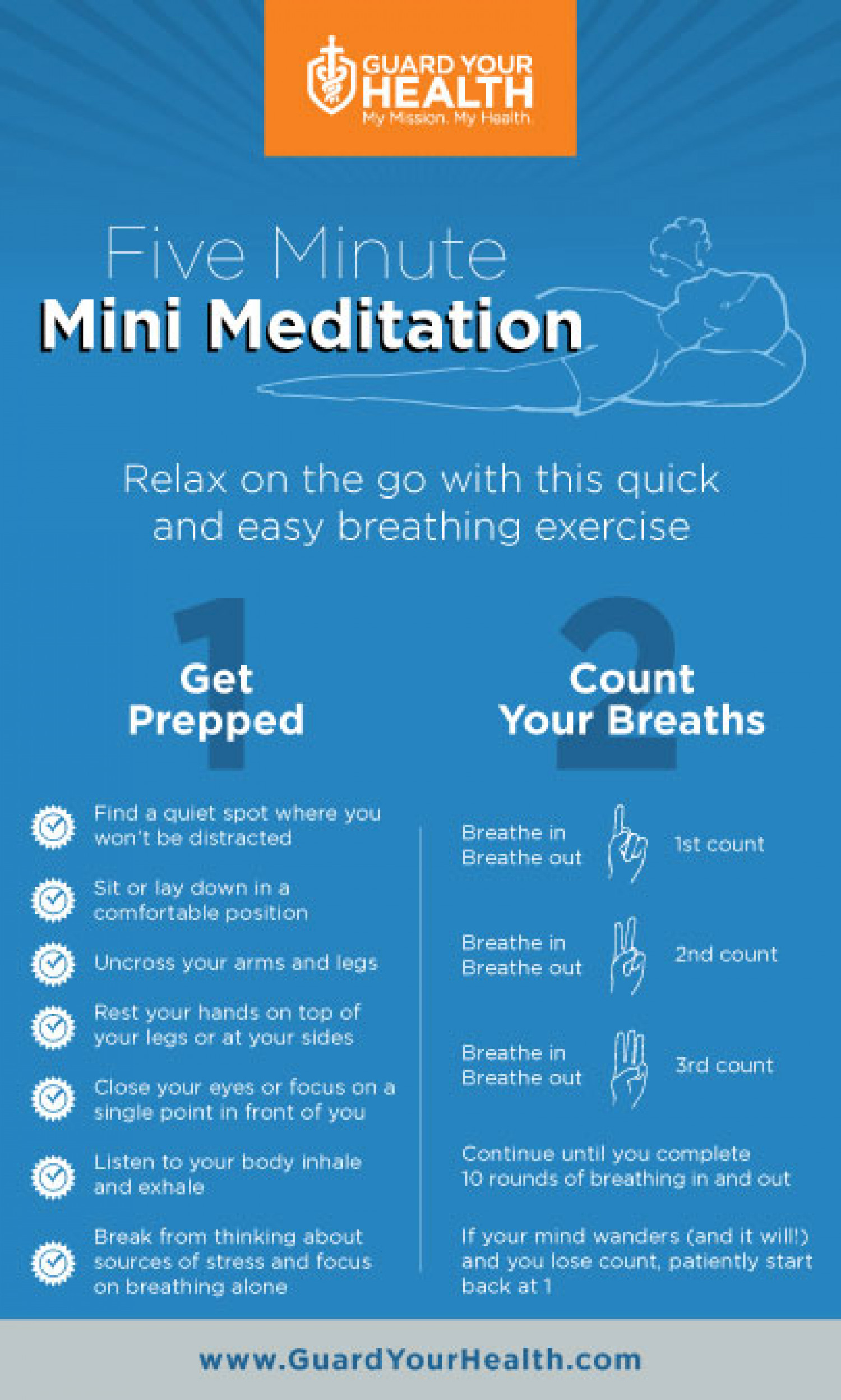 Five Minute Mini Meditation Infographic