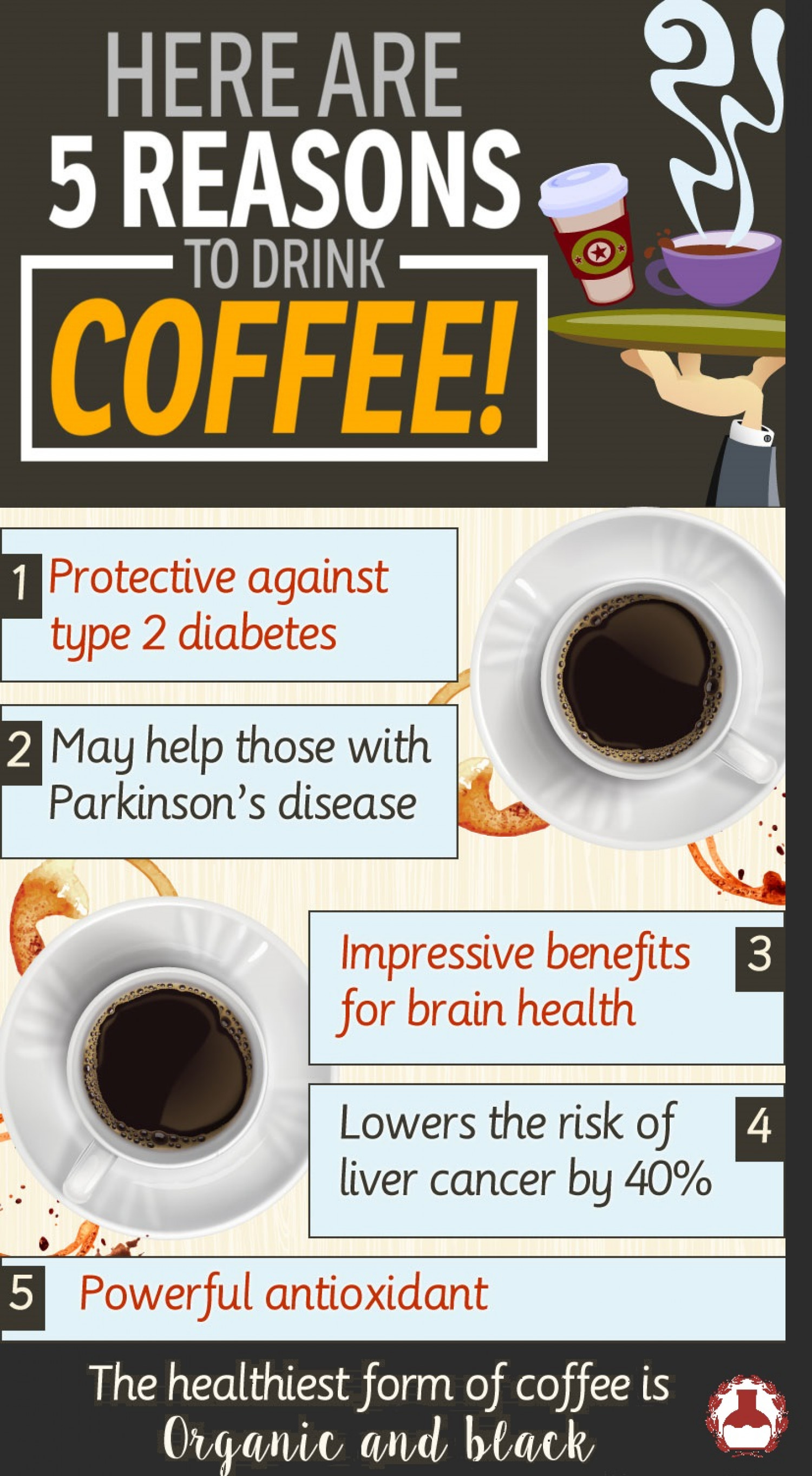 Five Reasons To Drink Coffee Infographic