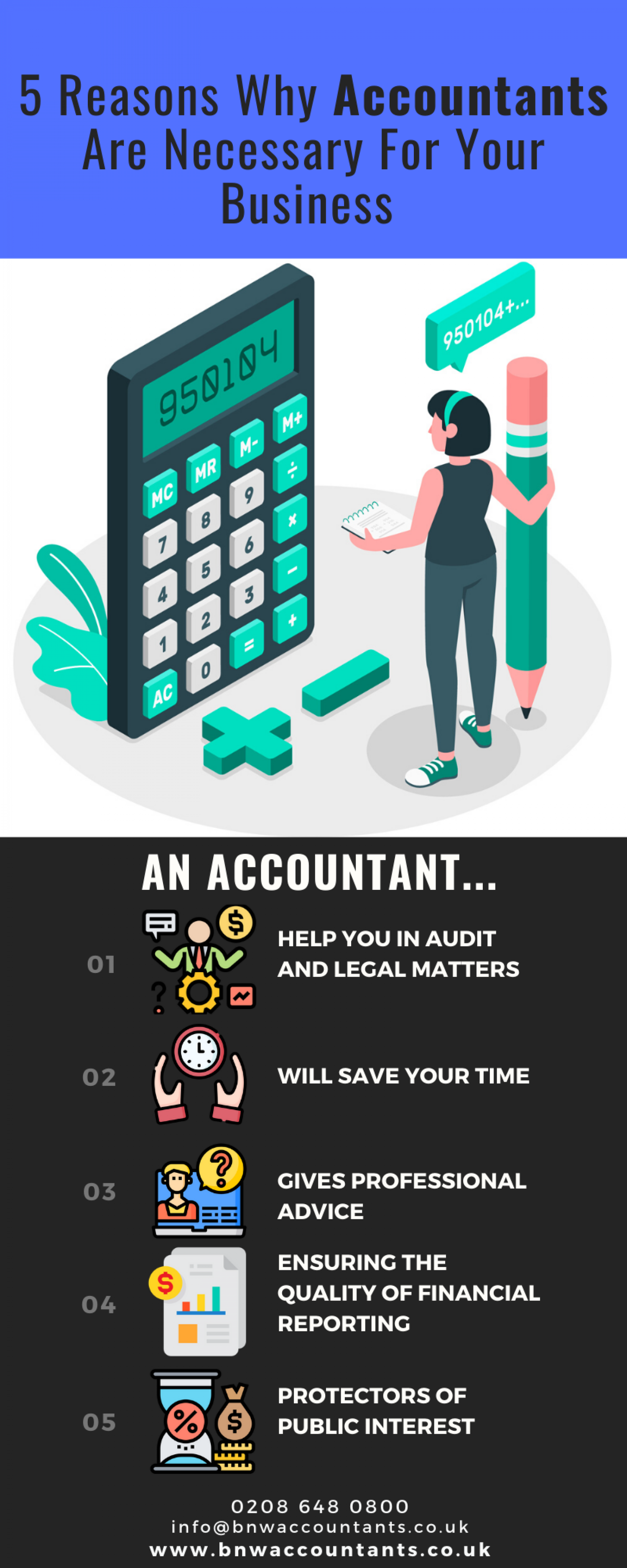 Five Reasons Why Accountants are Important for Business Infographic