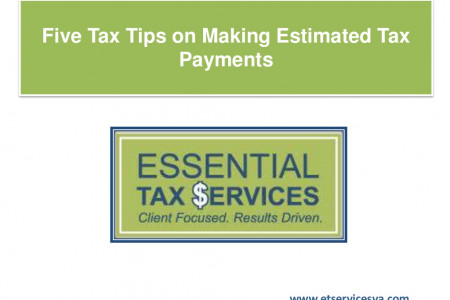 Five Tax Tips on Making Estimated Tax Payments Infographic
