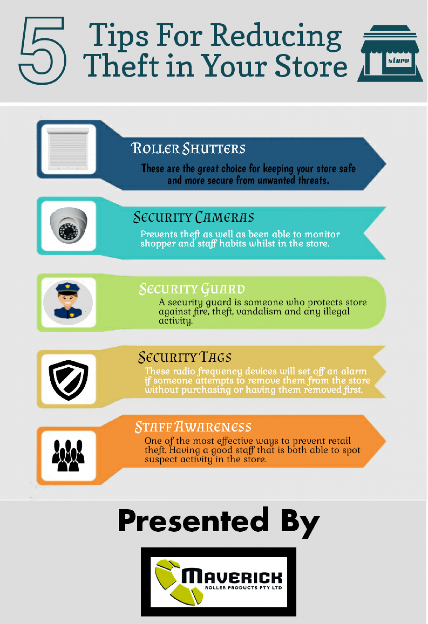 Five Tips For Reducing Theft in Your Store  Infographic
