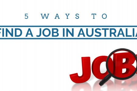 Five Ways To Find a Job in Australia Infographic