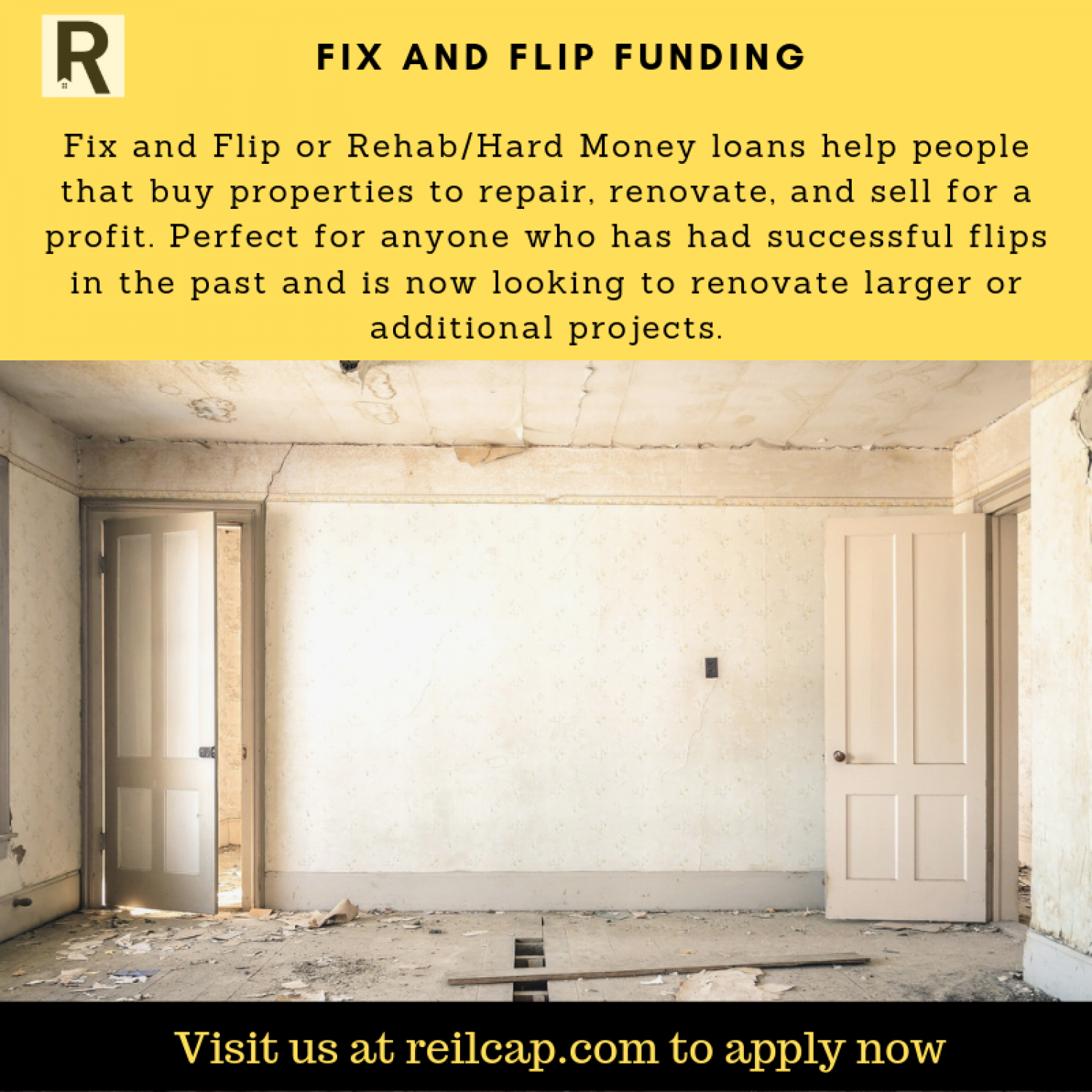 Fix And Flip Funding Infographic