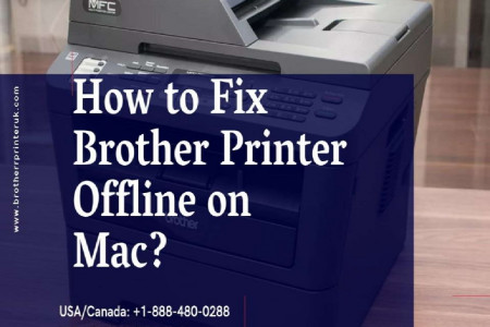 Fix Brother Printer Offline on Mac | Dial +1-888-480-0288 Infographic