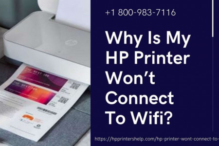Fix Hp Printer Won't Connect to WiFi 1-8009837116 Printer Not Responding Infographic