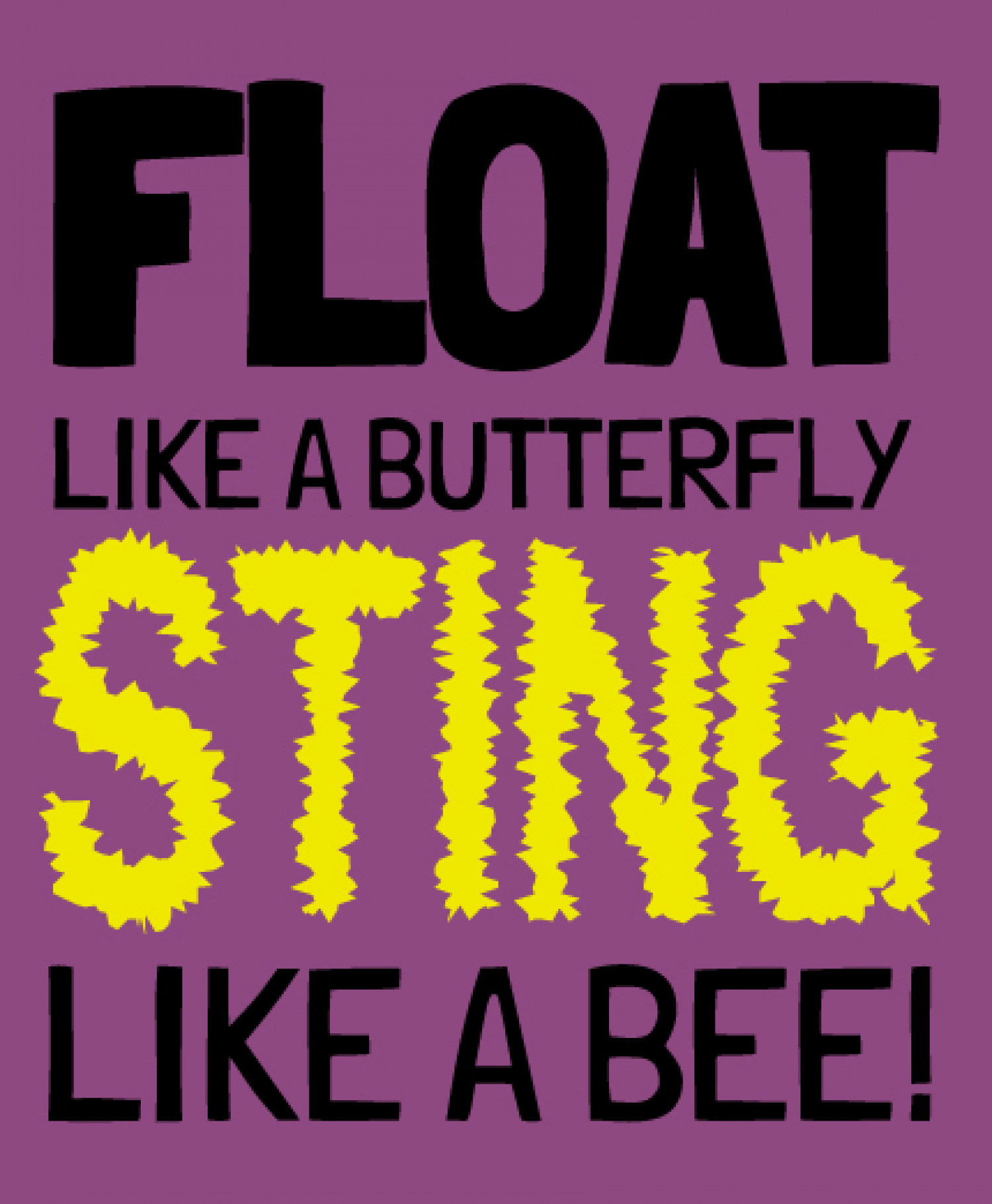 Float like a Butterfly, Sting like a Bee Infographic