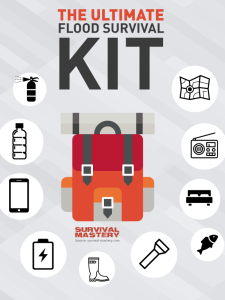 Flood Survival Kit Infographic Infographic