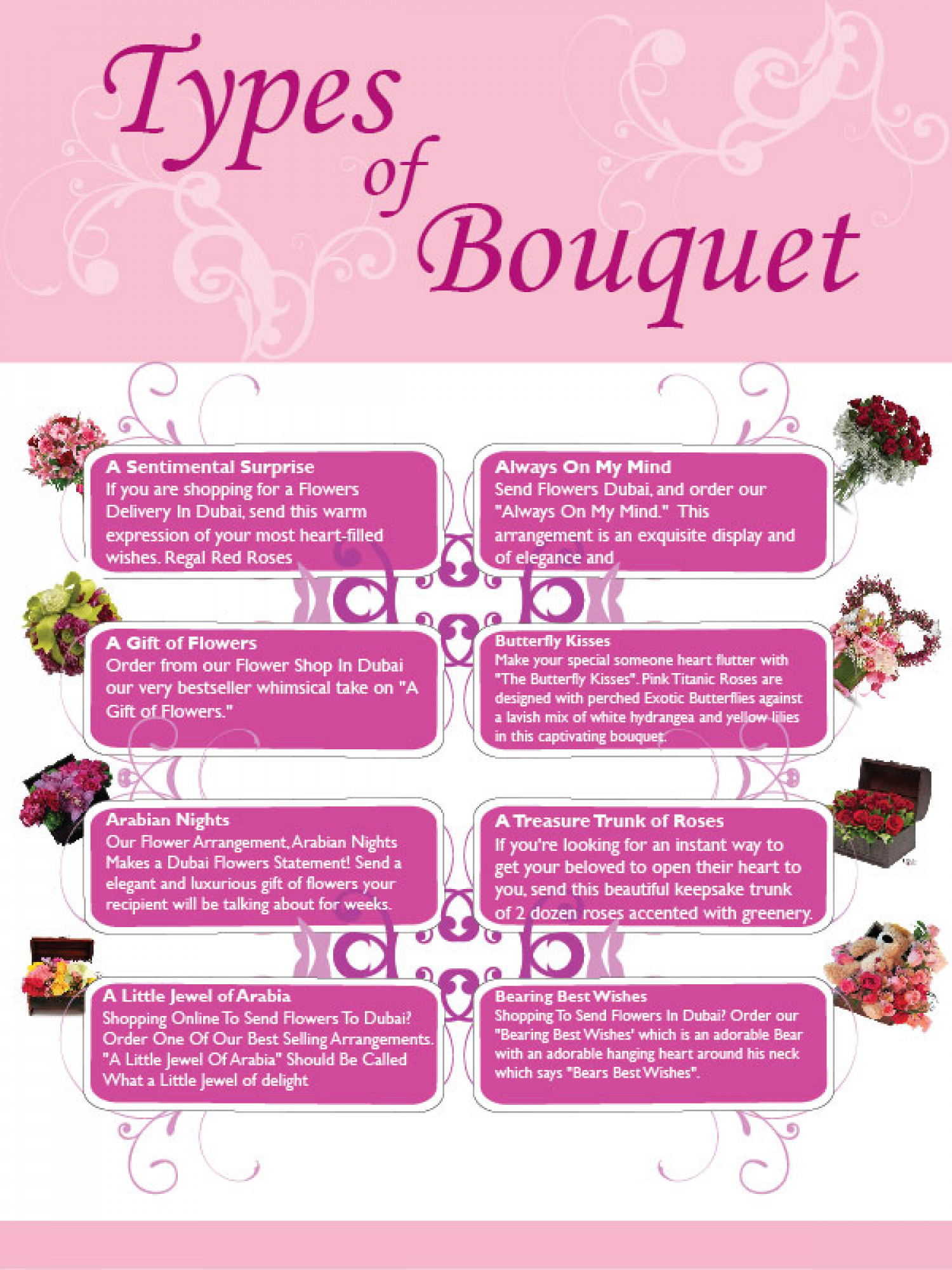 Flowers flowers bouquet and its types visual flowers flowers bouquet and its types infographic izmirmasajfo