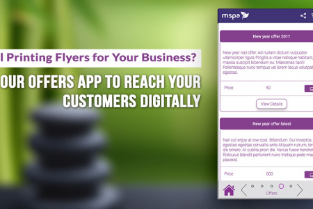 Flyers are no more. Try our offers App to reach customers digitally Infographic