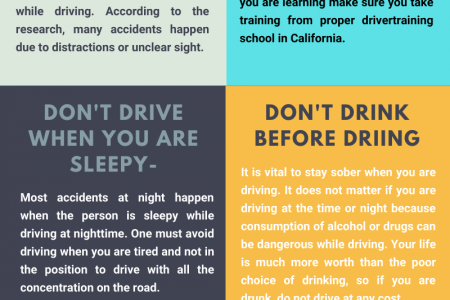 Focusing 6 tips to drive safely during the night in Glendale Infographic