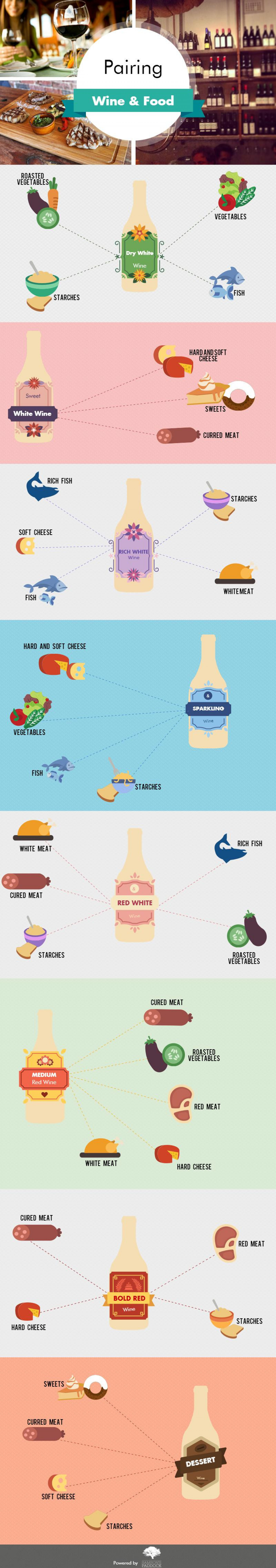 Food & Wine Matching Infographic Infographic