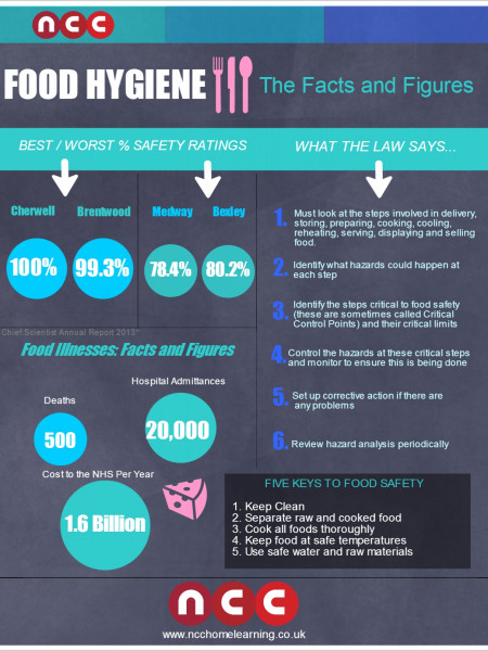 Food Hygiene: Facts and Figures Infographic