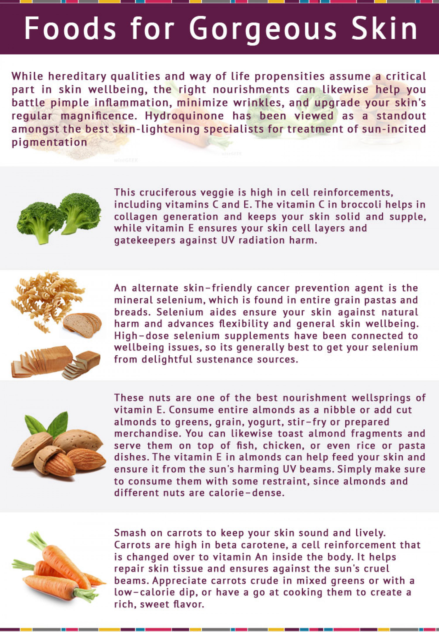 FOODS FOR GORGEOUS SKIN Infographic