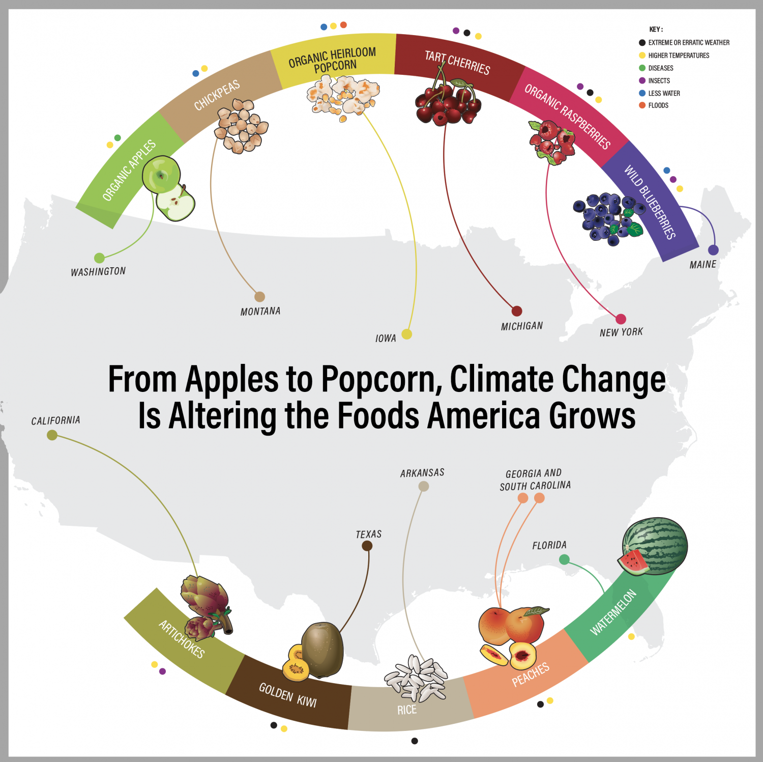 For Farmers, A Crop of Changes Infographic