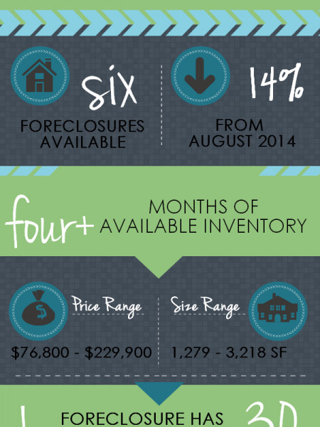 Foreclosures in Bonaire GA for September 2014 Infographic