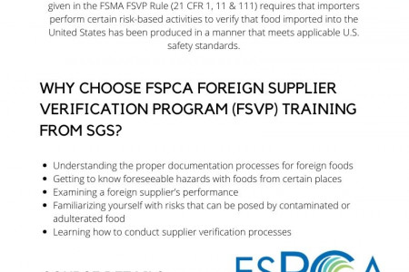 Foreign Supplier Verification Program Infographic