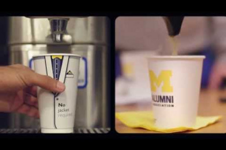 Forever Go Blue - The University of Michigan Alumni Infographic