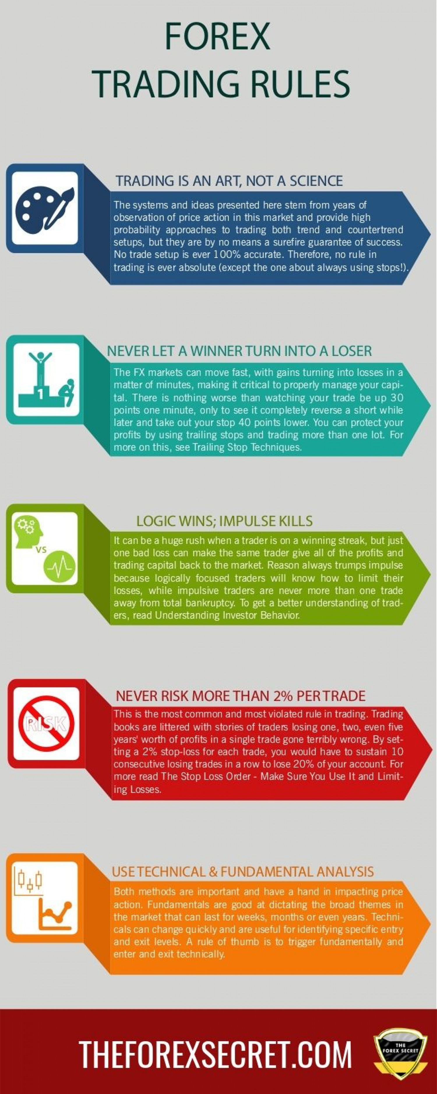 Forex Trading Rules Infographic