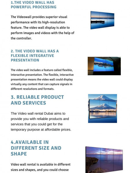Four Reasons to Go for Video Wall Rental Services Infographic