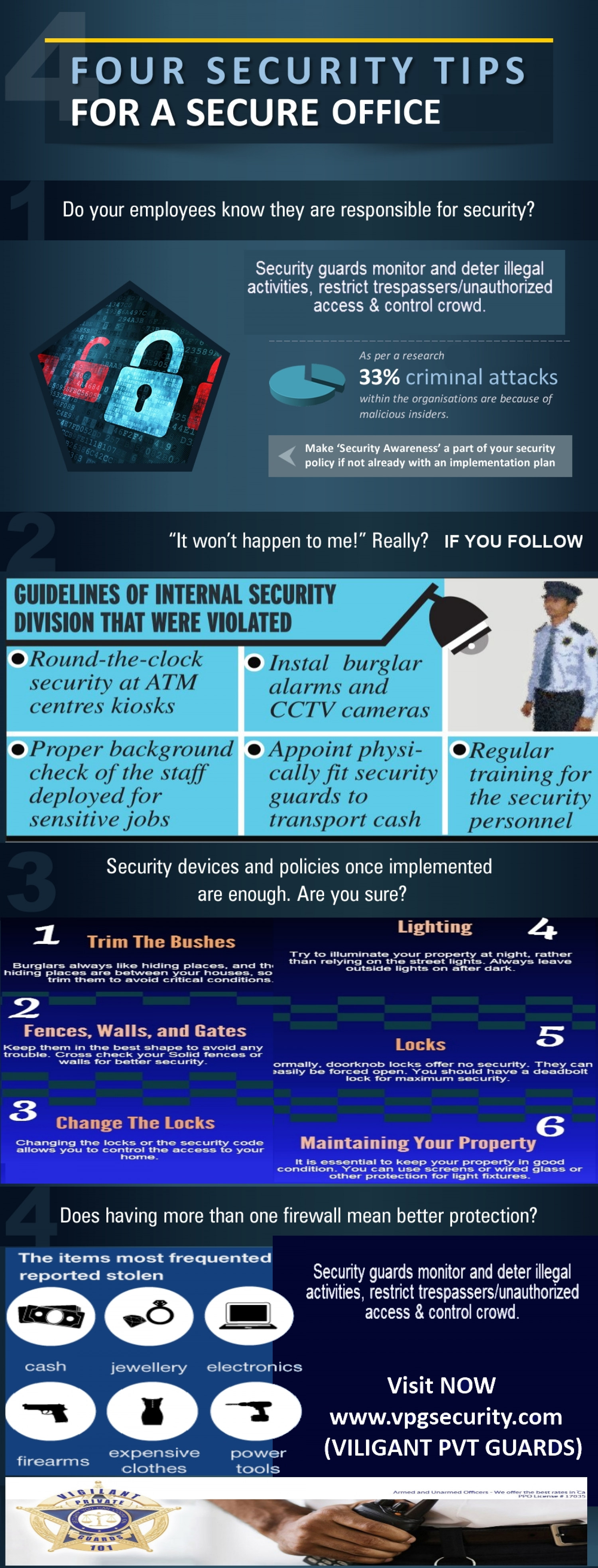 Four Security Tips for a Secure Office Infographic