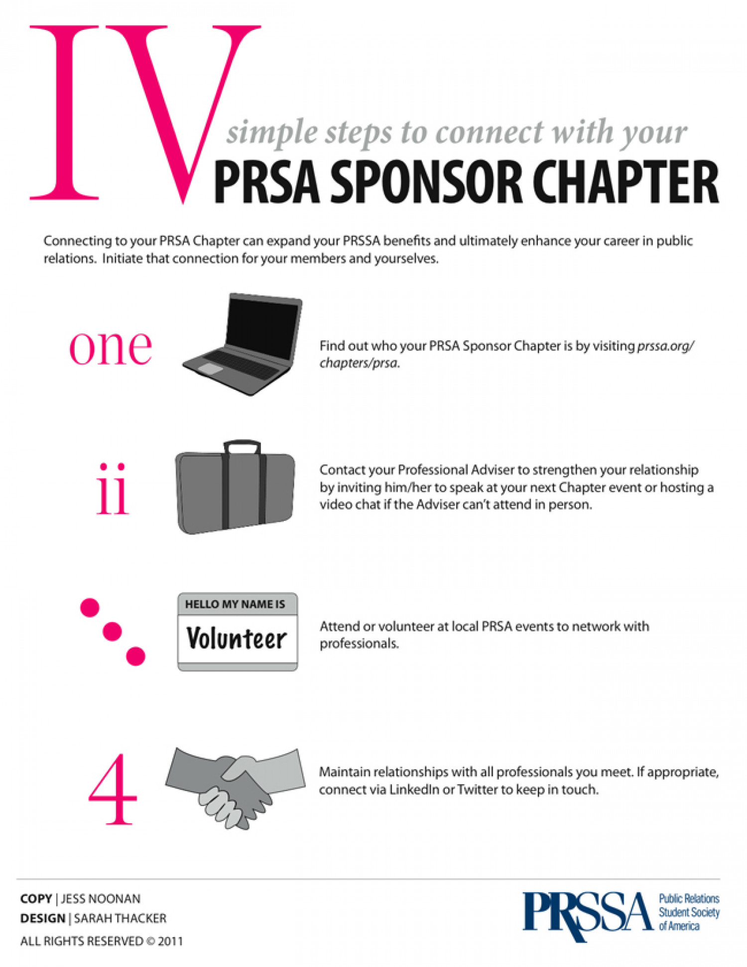 Four Simple Ways to Connect With PRSA Infographic