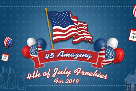 fourth of July freebies for 2019 Infographic