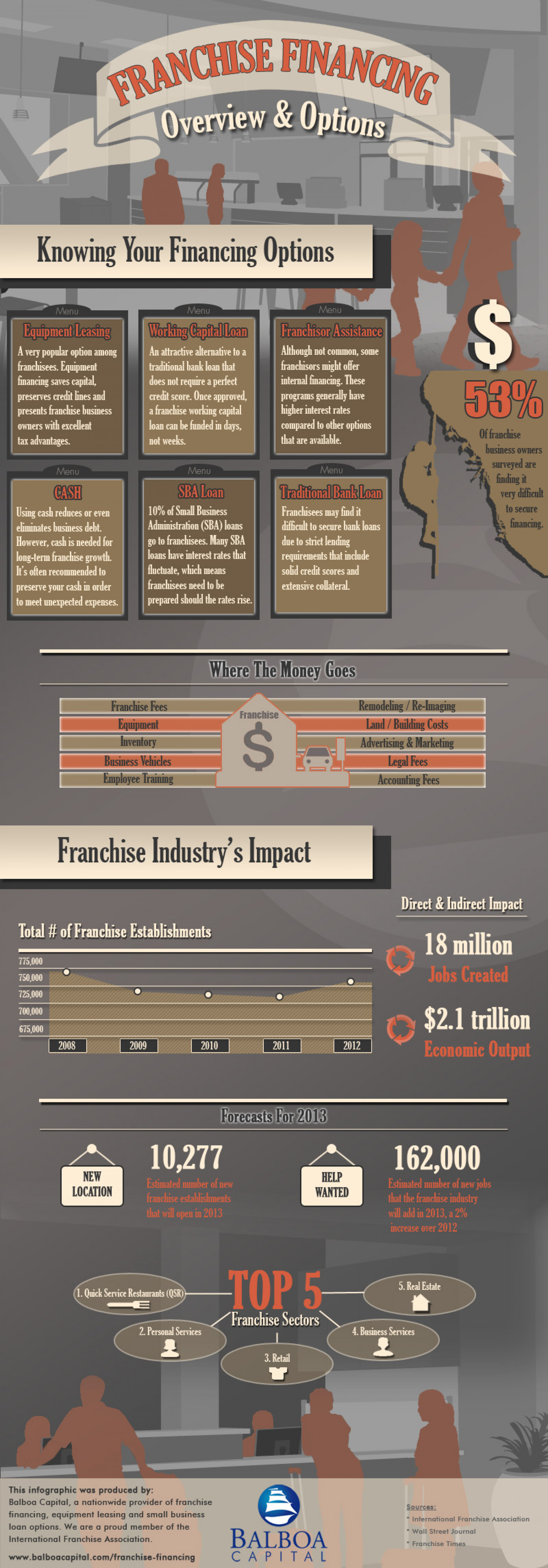 Franchise Financing Infographic Infographic